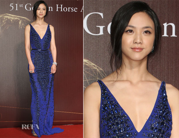 Tang Wei In Roberto Cavalli - 2014 Golden Horse Awards