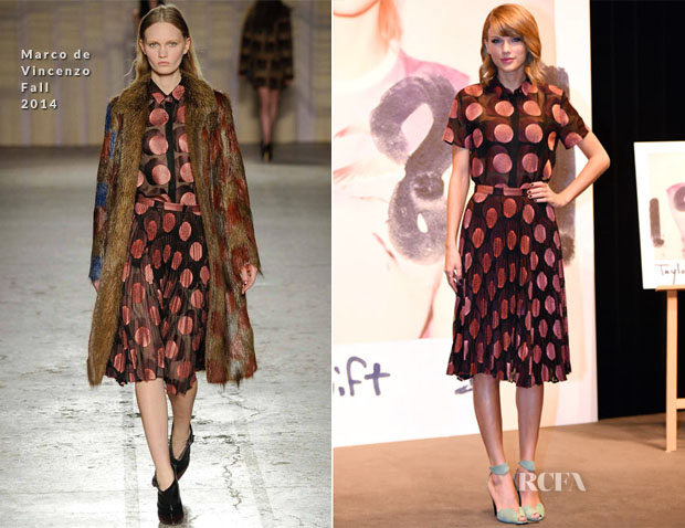 Taylor Swift In Marco de Vincenzo - '1989' Tokyo Press Conference