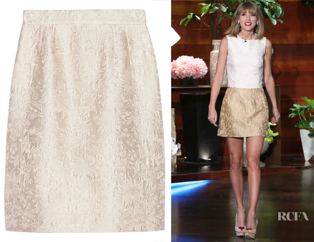 Taylor Swift's Dolce & Gabbana Cream Jacquard Skirt