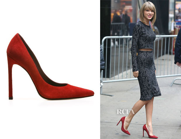 Taylor Swift's Stuart Weitzman Queen Red Pumps