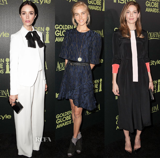 The Hollywood Foreign Press Association And InStyle Celebrate The 2015 Golden Globe Award Season Red Carpet Roundup