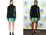 Trina's Alexander McQueen Iridescent Sequin Turtleneck Sweater Dress