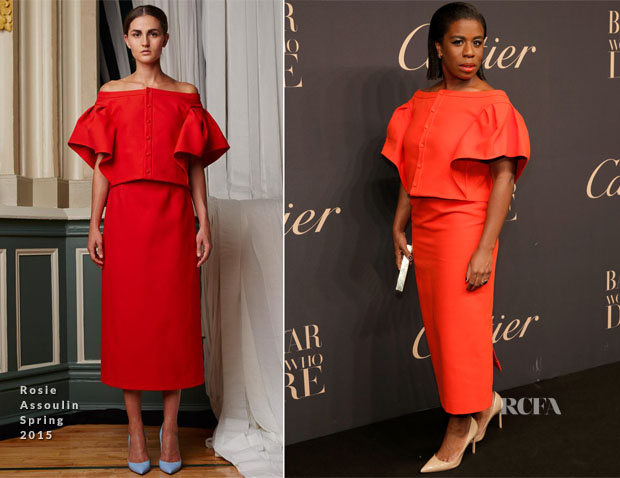 Uzo Aduba In Rosie Assoulin - Panthere De Cartier And Harper's Bazaar Host A Dinner Celebrating 'Women Who Dare'