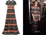 Vera Farmiga's Elie Saab Embroidered Tulle and Lace Gown