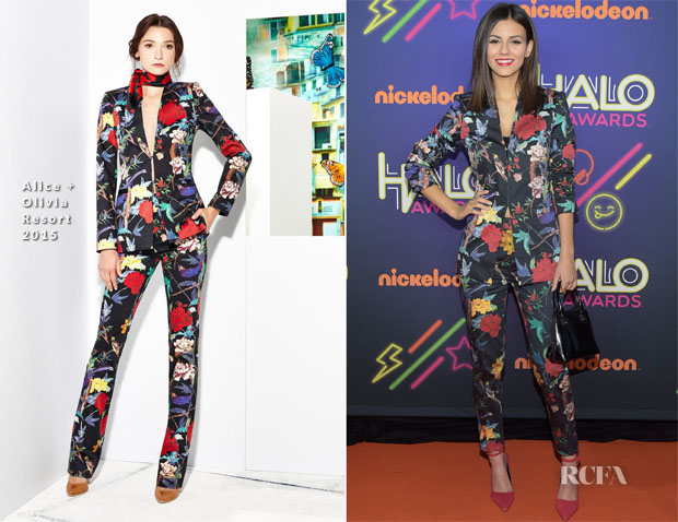 Victoria Justice In Alice + Olivia - 2014 Nickelodeon HALO Awards