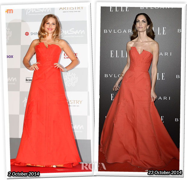 Who Wore Carolina Herrera Better Teresa Palmer or Eugenia Silva