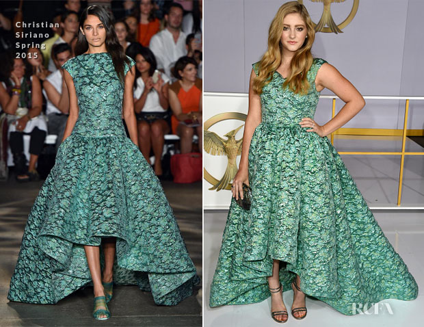 Willow Shields In Christian Siriano -  'The Hunger Games Mockingjay - Part 1' LA Premiere