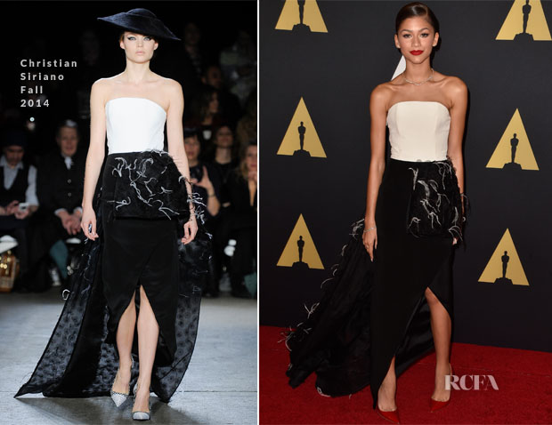 Zendaya Coleman In Christian Siriano - Academy Of Motion Picture Arts And Sciences' Governors Awards