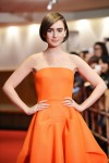 Lily Collins in Maticevski