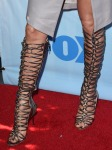 Jennifer Lopez' Sophia Webster Clementine strappy to-the-knee gladiator sandal boot