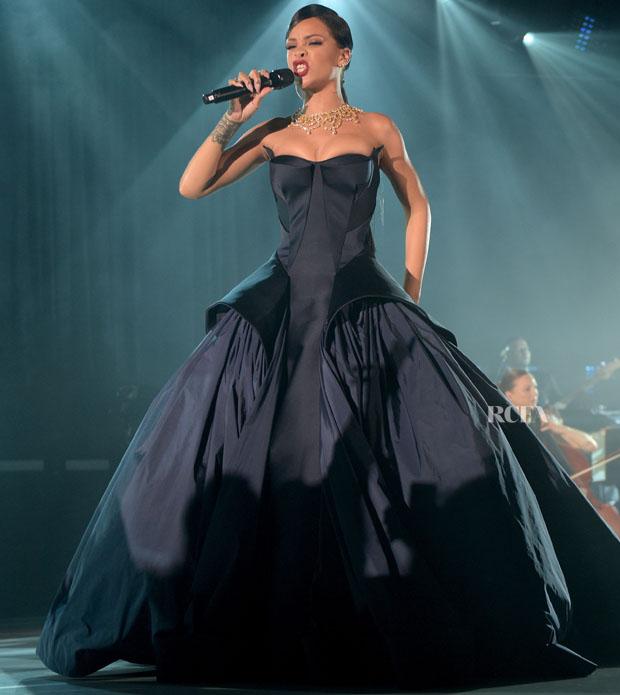 Rihanna In Zac Posen - First Annual Diamond Ball for the Clara ...