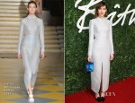Alexa Chung In Emilia Wickstead - 2014 British Fashion Awards