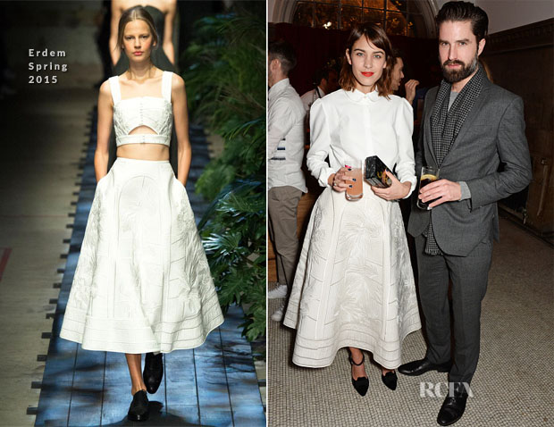 Alexa Chung In Erdem - British Fashion Awards Nominees' Dinner