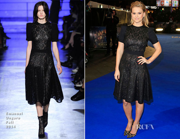 Alice Eve In Emanuel Ungaro - 'Night At The Museum Secret Of The Tomb' London Premiere