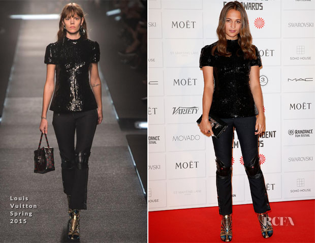 Alicia Vikander In Louis Vuitton - 2014 British Independent Film Award copy