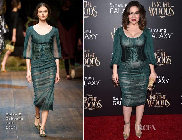 Alyssa Milano In Dolce & Gabbana - 'Into The Woods' World Premiere