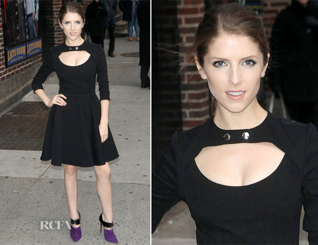 Anna Kendrick In Carven - Late Show with David Letterman
