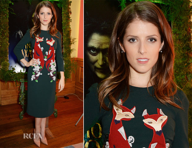 Anna Kendrick In Dolce & Gabbana - 'Into The Woods' London Special Screening