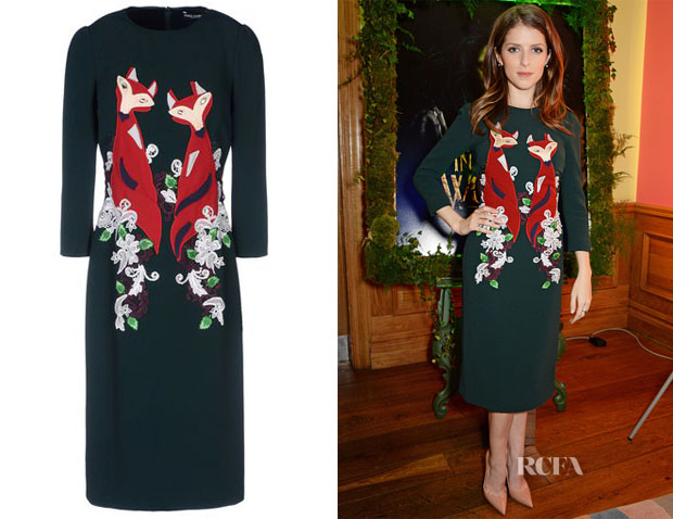 Anna Kendrick's Dolce & Gabbana Fox Dress