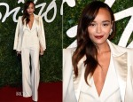 Ashley Madekwe In Banana Republic - 2014 British Fashion Awards