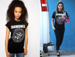 Ashley Tisdale's ASOS The Ramones Print Boyfriend T-Shirt