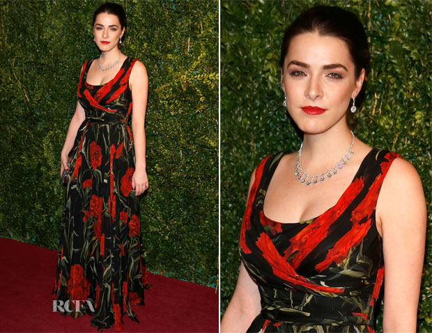 Bee Shaffer In Dolce & Gabbana - 2014 London Evening Standard Theatre Awards