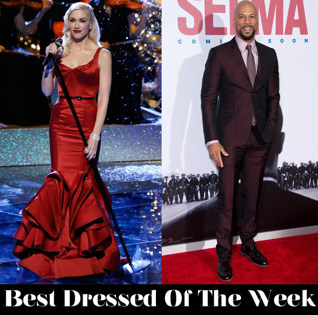Best Dressed Of The Week - Gwen Stefani In Zac Posen & Common In Calvin Klein Collection