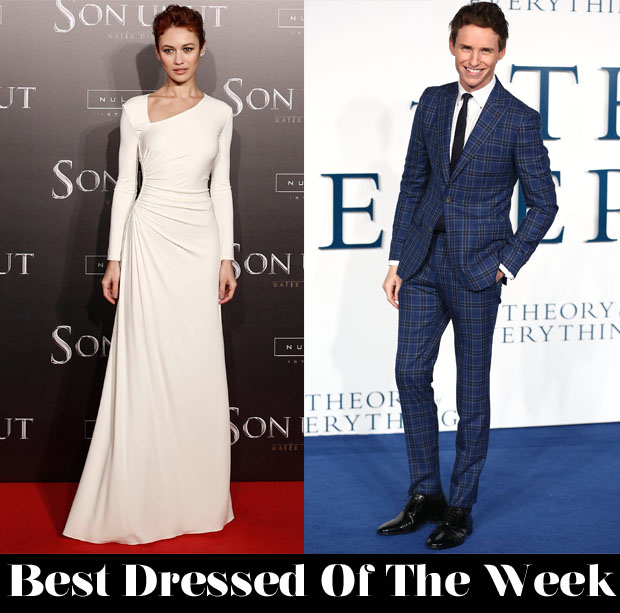 Best Dressed Of The Week - Olga Kurylenko In Ralph Lauren Collection & Eddie Redmayne In Hardy Amies