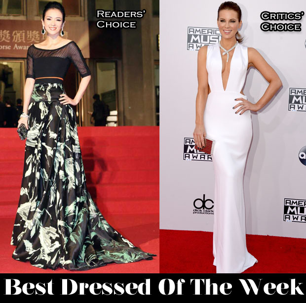 Best Dressed Of The Week - Zhang Ziyi In J Mendel & Kate Beckinsale In Kaufmanfranco