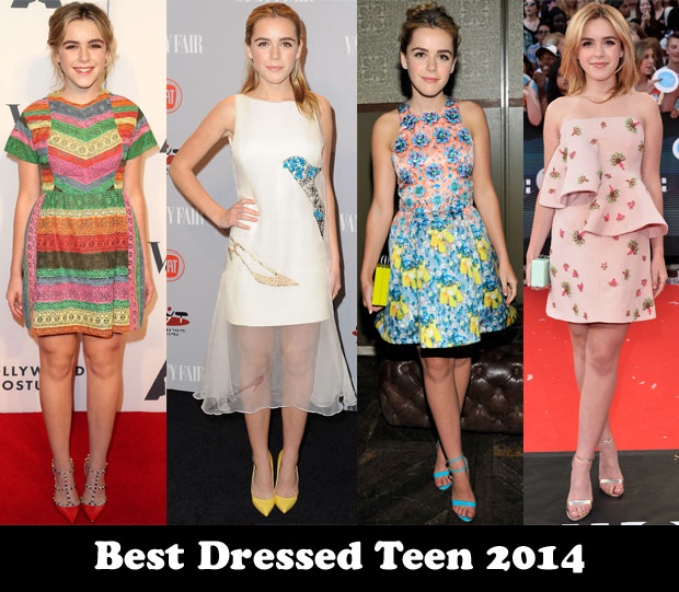Best Dressed Teen 2014 – Kiernan Shipka