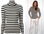 Beyonce Knowles' Gucci Striped Roll Neck Sweater