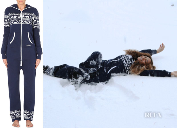 Beyonce Knowles' Onepiece Snowball Cotton-Jersey Onesie