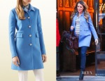 Blake Lively's Gucci Blue Wool Coat