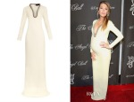 Blake Lively's Gucci Crystal-Embellished Silk-Cady Gown