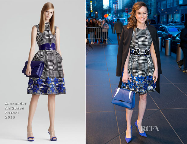 Brie Larson In Alexander McQueen - The Tonight Show Starring Jimmy Fallon