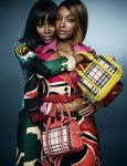Naomi Campbell and Jourdan Dunn for Burberry Prorsum Spring/Summer 2015