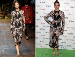 Camila Alves In Dolce & Gabbana - 19th Annual ACRIA Holiday Dinner