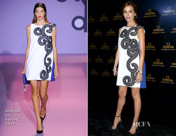 Camilla Belle In Andrew Gn - Omega Store Opening