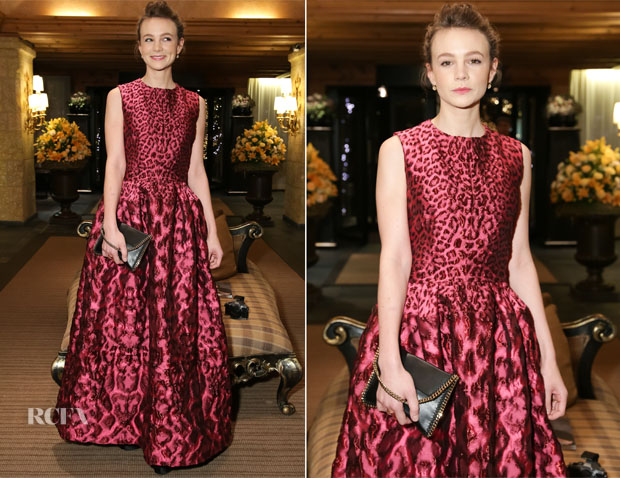 Carey Mulligan In Alexander McQueen - ASMALLWORLD's 10thAnniversary Winter Weekend Gala Benefit