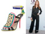 Darby Stanchfield's Sophia Webster	 Marissa Calf Hair Fringe Sandals