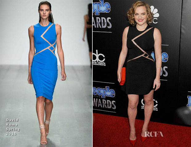 Elisabeth Moss In David Koma - The PEOPLE Magazine Awards