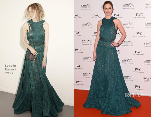 Emily Blunt In Lanvin - IWC Filmmakers Awards