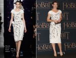 Evangeline Lilly In Reem Acra - 'The Hobbit: The Battle of the Five Armies' Mexico City Premiere