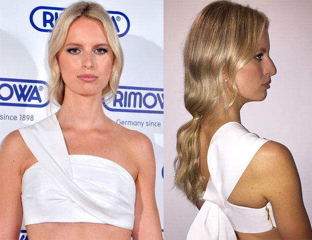 Get The Look Karolina Kurkova's Easy-Looking Rimowa Opening Event Hair