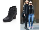 Gigi Hadids' Rag & Bone Harrow Leather Biker Boots