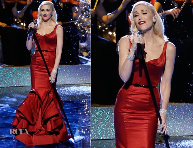 Gwen Stefani In Zac Posen - 'The Voice' Season 7 Finale