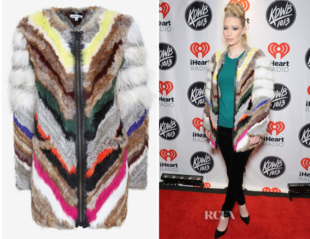 Iggy Azalea's Elizabeth and James Tarra Multicolour Fur Coat