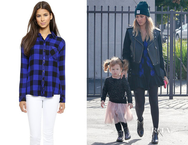 Jessica Alba's Rail Hunter Button Down Plaid Shirt