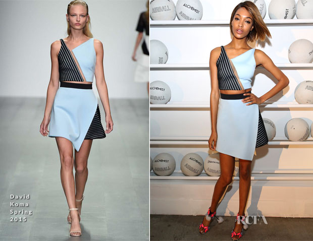 Jourdan Dunn In David Koma - Alfa Romeo Celebration of AIRBALL