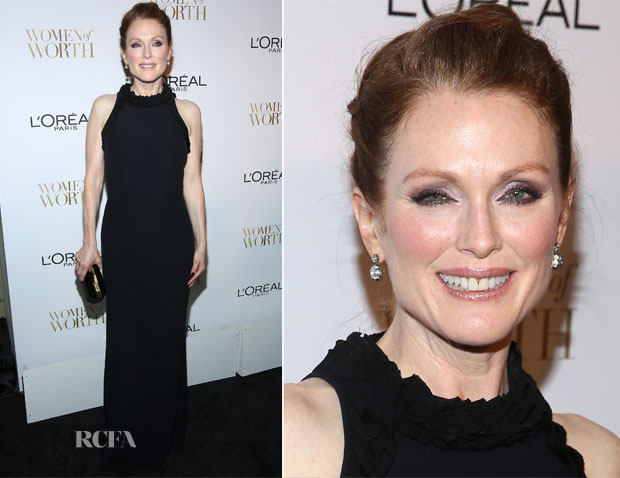 Julianne Moore In Alexander McQueen - L'Oreal Paris' 9th Annual Women Of Worth Celebration